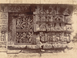 Close view of right half of west facade of the mandapa of the Parashurameshvara Temple, Bhubaneshwar